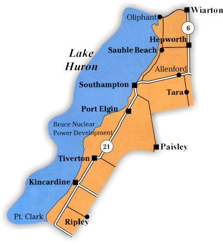 map of lake huron shoreline The Lake Huron Shoreline map of lake huron shoreline